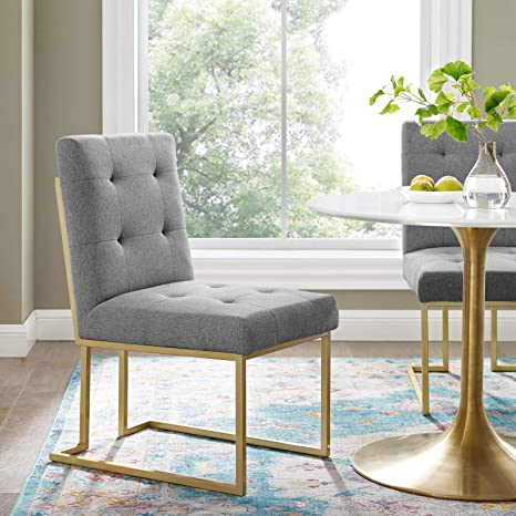 Amazing Amazon Com Modway Eei 3743 Gld Lgr Privy Gold Stainless Gmtry Best Dining Table And Chair Ideas Images Gmtryco