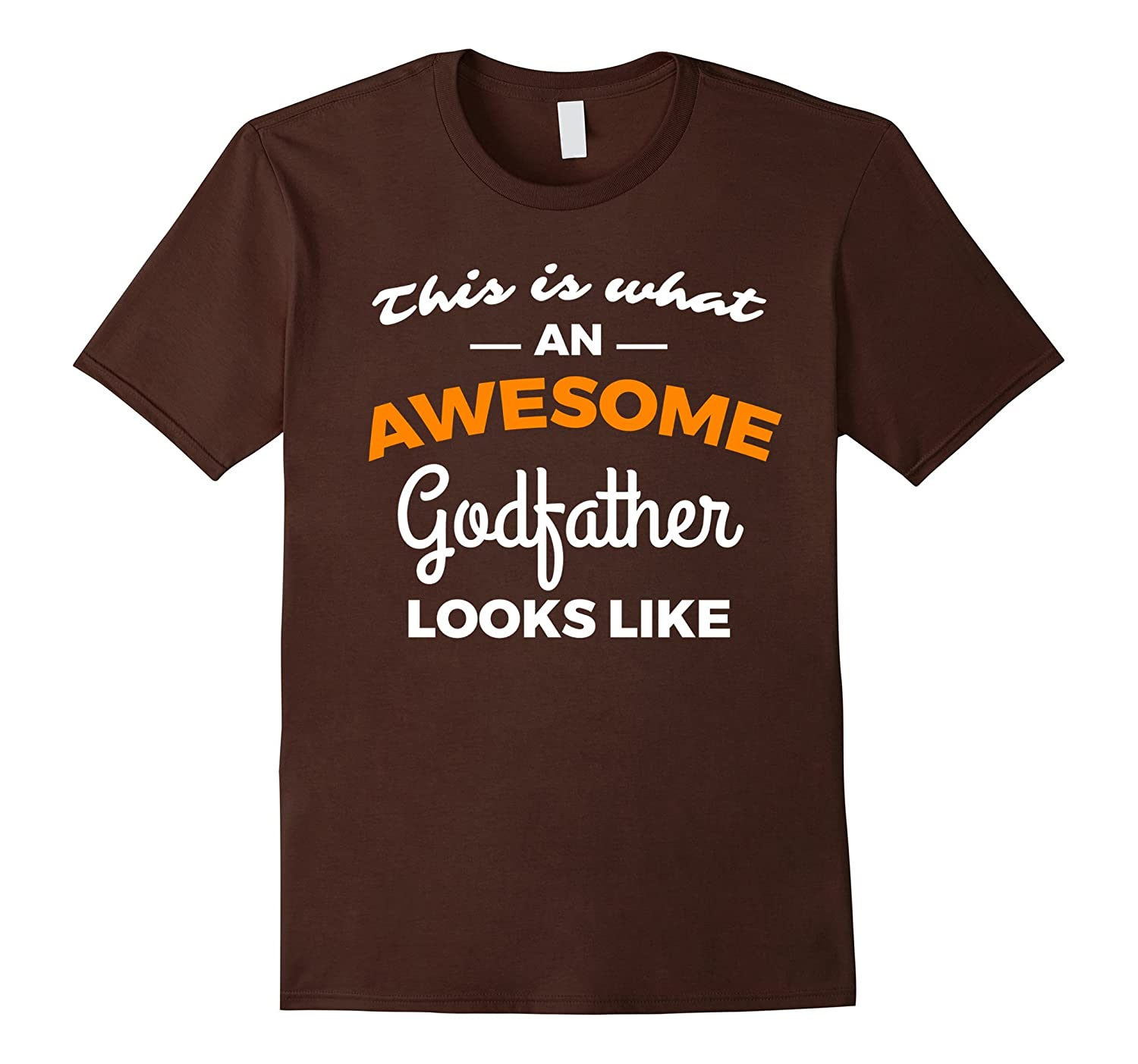 Mens This Is What an Awesome Godfather Looks Like Baptism Shirt-FL