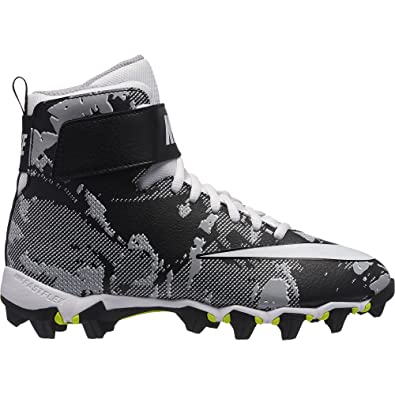 purchase cheap 15109 66597 Amazon.com   Nike Boy s Force Savage Shark BG FCP Football Cleat  Black White Wolf Grey Size 5 M US   Football