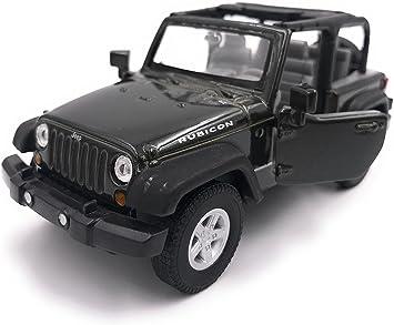 H Customs Jeep Wrangler Rubicon Modellauto Auto Lizenzprodukt 1 34 1 39 Schwarz Offen Auto