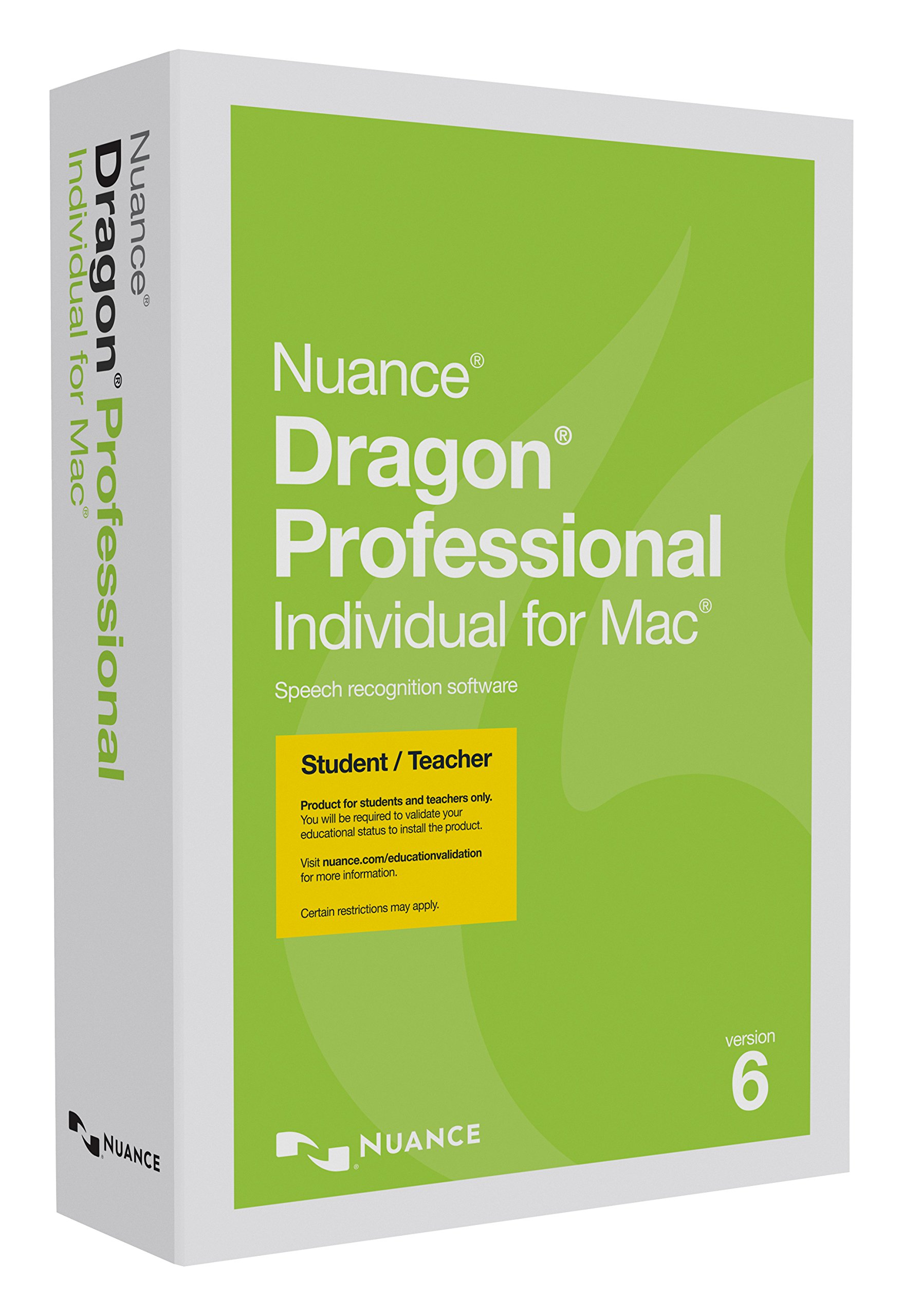 Dragon Professional Individual for Mac 6.0, Student/Teacher Edition (Discontinued) by Nuance Dragon