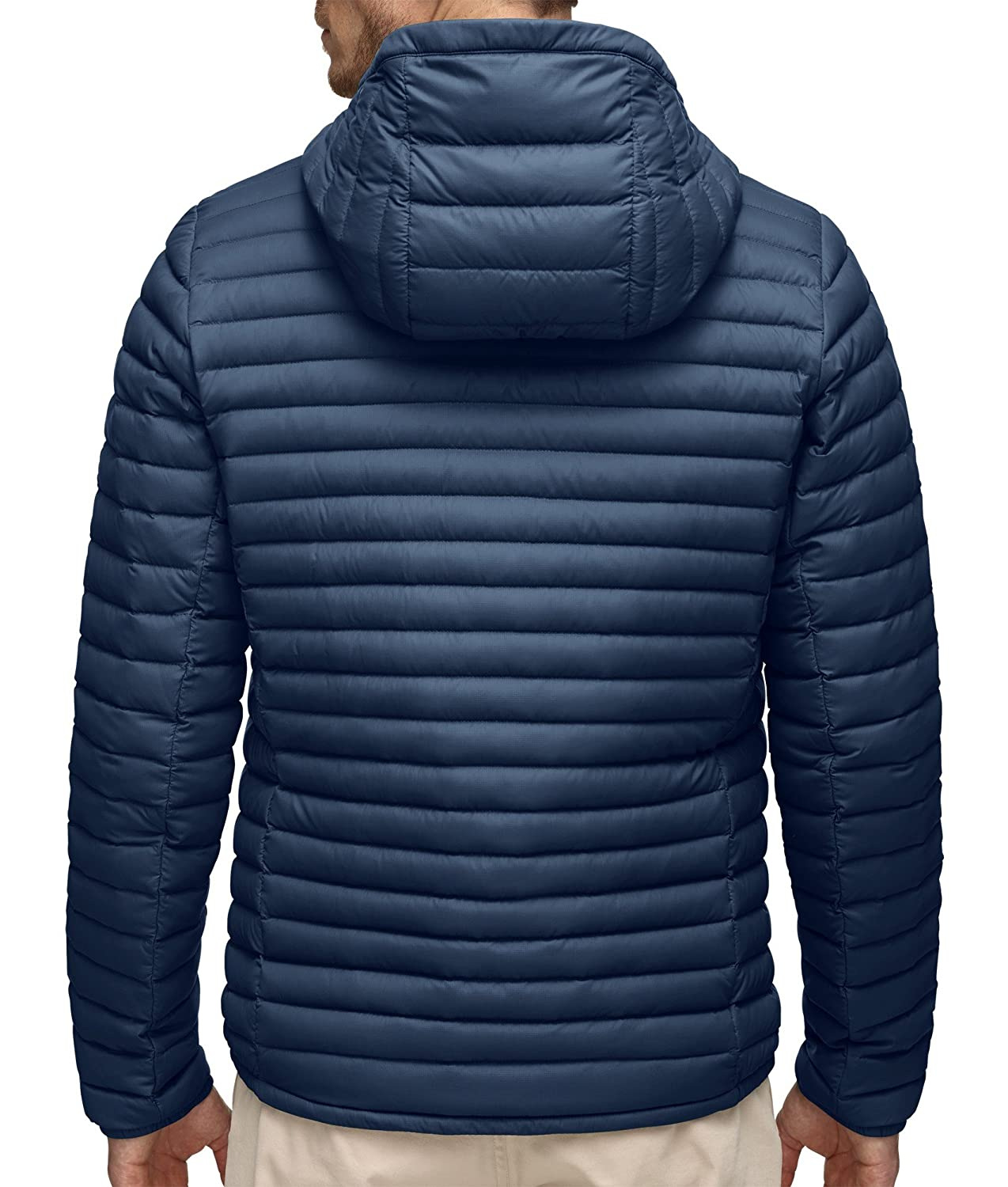 17db5def61f5 Kjus MEN Blackcomb Hooded Down Jacket - Deep Sea - 54 - Mens lightweight  breathable hooded down jacket  Amazon.co.uk  Sports   Outdoors