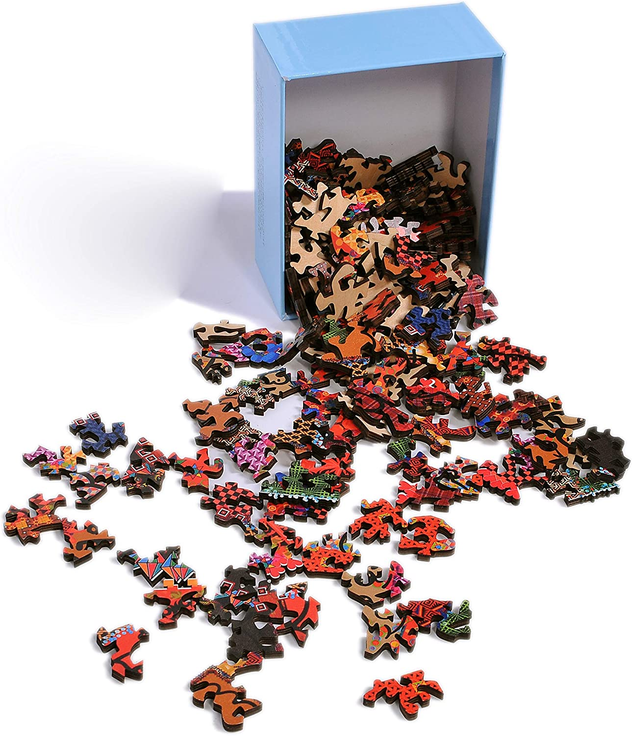 Hartmaze Wooden Jigsaw Puzzles-Brilliant Cells and Chequers 167 Truly Unique Pieces Small Square Shape-Best Choice for Adults and 8 Years Age up Kids.