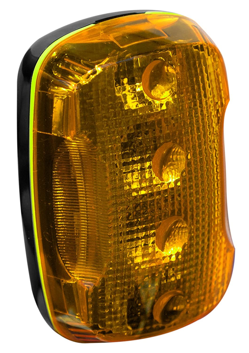 2-115//128 Length x 1-51//64 Width x 1-5//32 Thick Amber FoxFire 6001650 Personal Safety Weather Resistant Light 4 LEDs