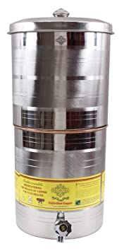 Indian Art Villa Copper Container Pot, 15 L Jars & Containers at amazon