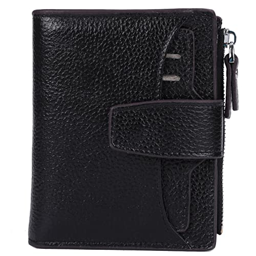2a7aaea07a03 AINIMOER Women's RFID Blocking Leather Small Compact Bi-fold Zipper Pocket  Wallet Card Case Purse with id Window