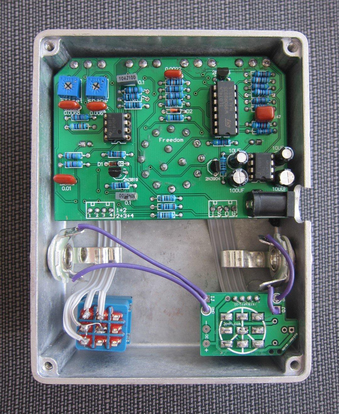 Fuzz Face Wiring 3pdt Explained Diagrams Jimi Hendrix Pedal Circuit Diagram Amazon Com Gristle Machine Tremolo Auto Wah Synth Guitar