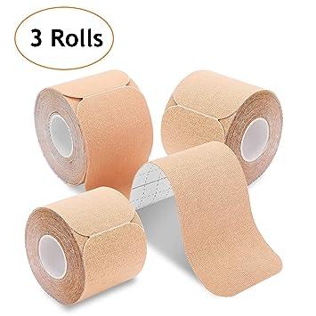 meilleures offres sur véritable 100% qualité garantie Poshei Kinesiology Tape Precut (3 Rolls Pack), Elastic Therapeutic Sports  Tape - Pain Relief Adhesive...