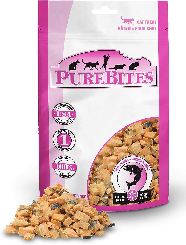 PureBites Freeze Dried Salmon Cat Treats, Made in USA, 2oz
