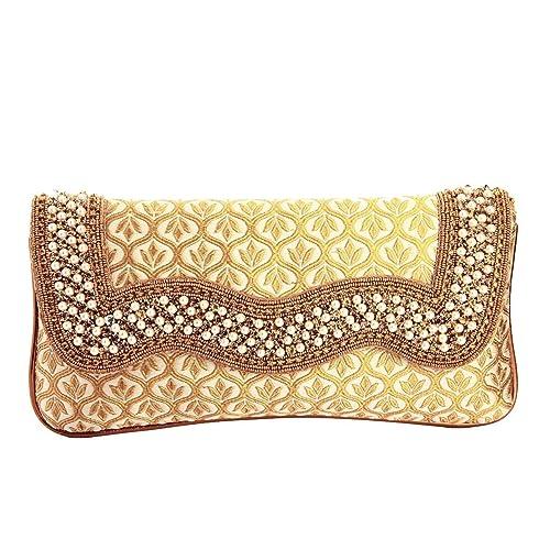 aa9db271228 LadyBugBag Fancy Golden Purse Clutch for Women's - LBB10156: Amazon.in:  Shoes & Handbags
