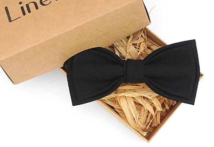 ee59dd641d3ec Amazon.com: Black pretied bow ties for men and toddler baby boys ...