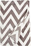 Northpoint Ruya Oversized Printed Velvet Plush Throw Blanket, 50 by 70-Inch, Chevron