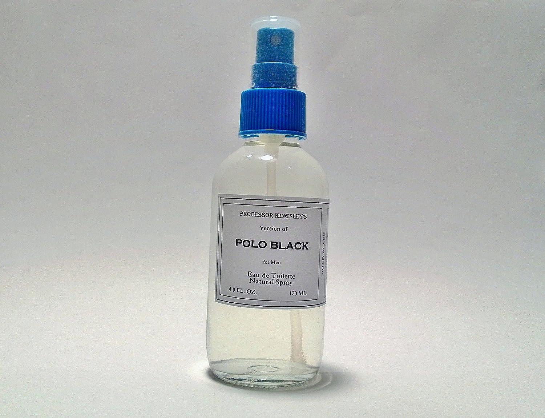 Professor Kingsley's Impression of Polo Black for Men. EDT Natural Spray. Fragrance 18% by Vol. (4.0 oz EDT Natural Spray)