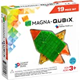 Magna-Qubix 19Piece Clear Colors Set, The Original, Award-Winning Magnetic 3D Building Shapes