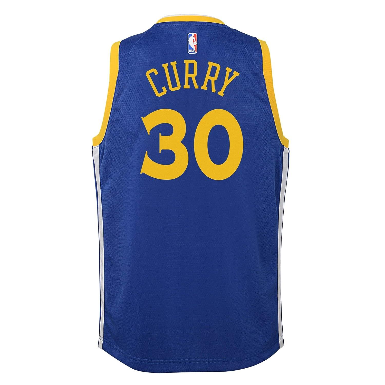 Nike - Camiseta de niños Golden State Warriors 2017-2018 Stephen Curry Icon Edition: Amazon.es: Deportes y aire libre