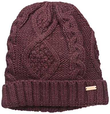 e91310c5 Bench Women's Careen Cable Knit Hat, Sassafras, 1 Size: Amazon.co.uk ...