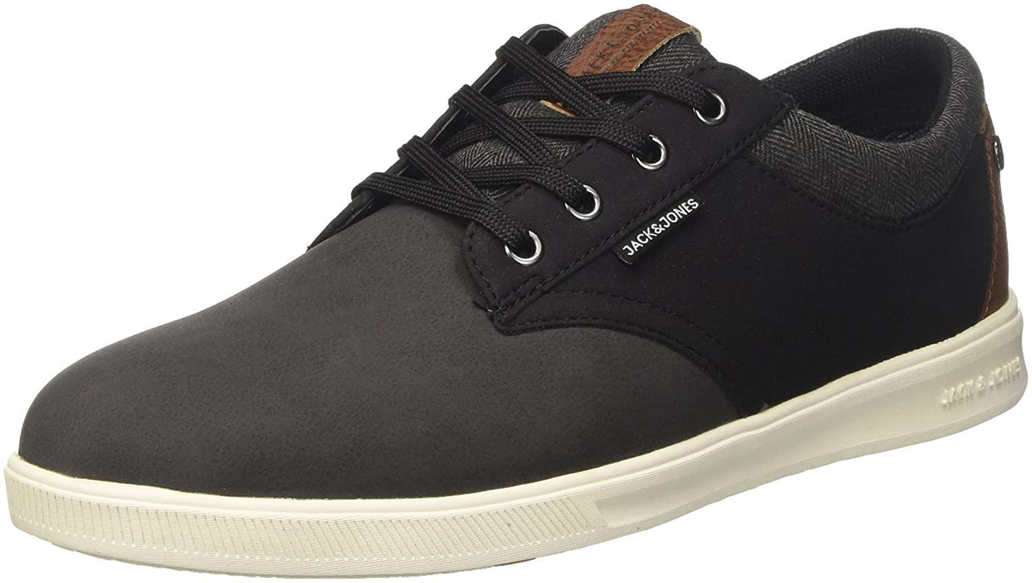 TALLA 43 EU. Jack & Jones Jfwgaston PU Combo Anthracite, Zapatillas para Hombre