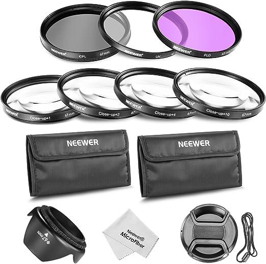 Neewer® 67MM Juego de accesorios de profesional filtro de lente y ...