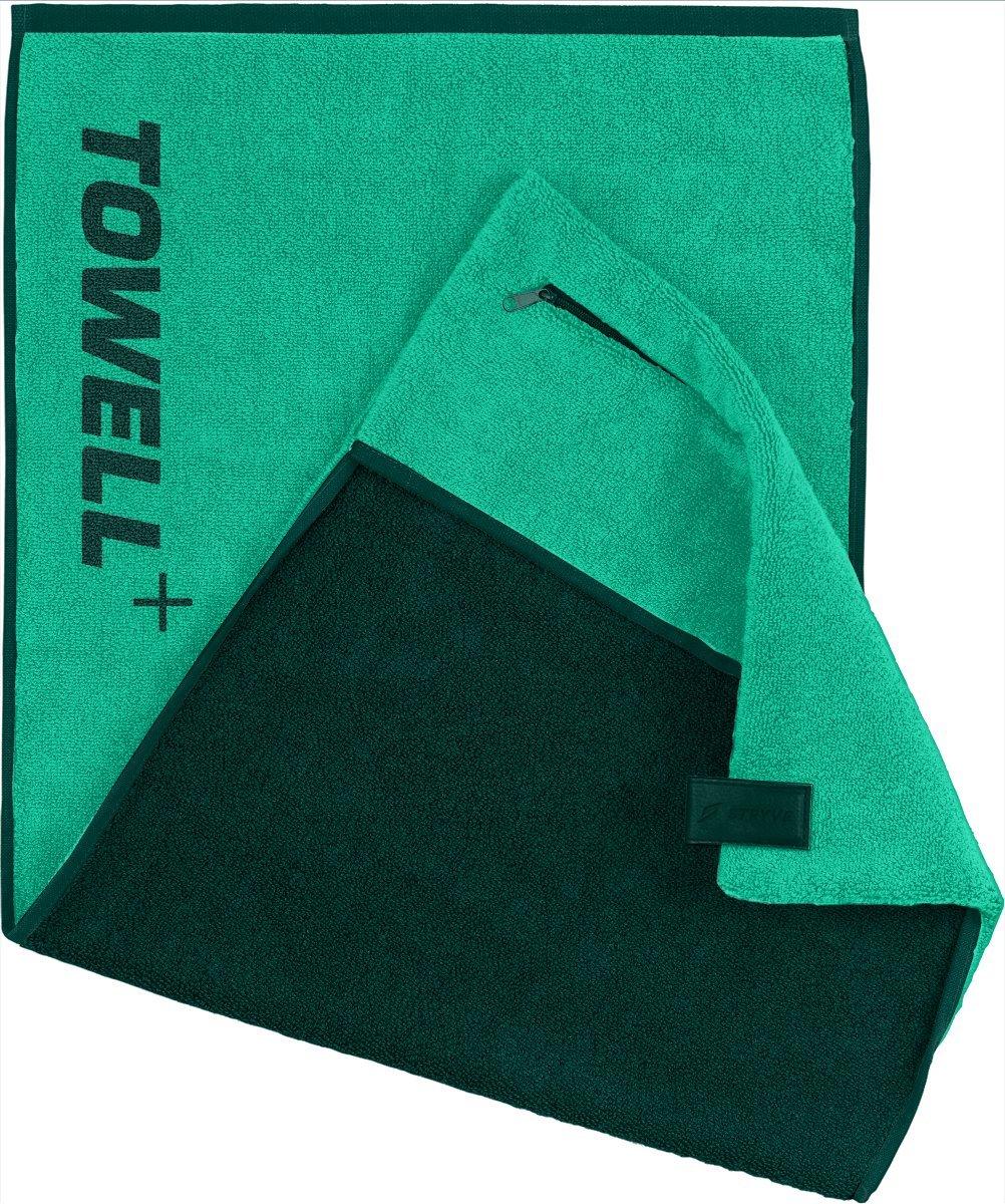 Toalla Towell+ de STRYVE con bolsillo, enganche magnético y protección antideslizante: la toalla para