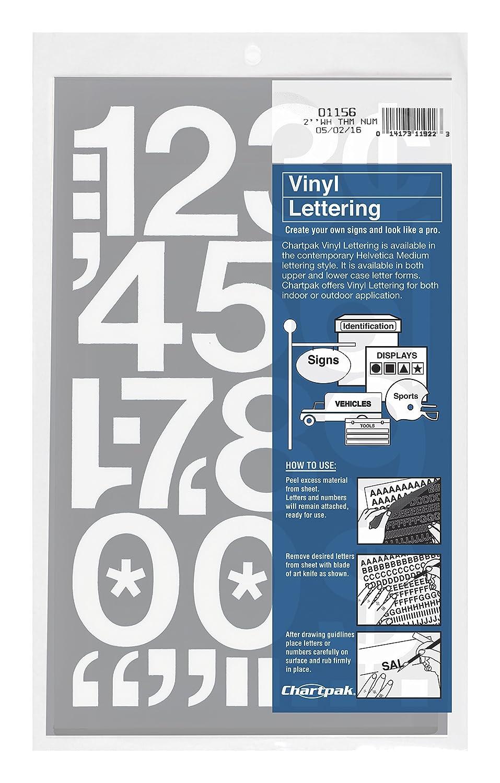 Amazoncom Chartpak SelfAdhesive Vinyl Numbers Inch High - Self adhesive vinyl letters