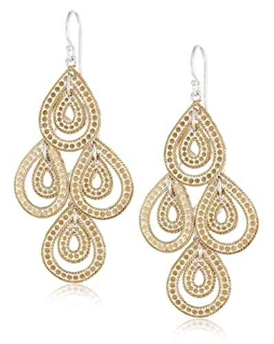 49407468a Anna Beck Designs Gili Gold-Plated Sterling Silver Teardrop Chandelier  Earrings