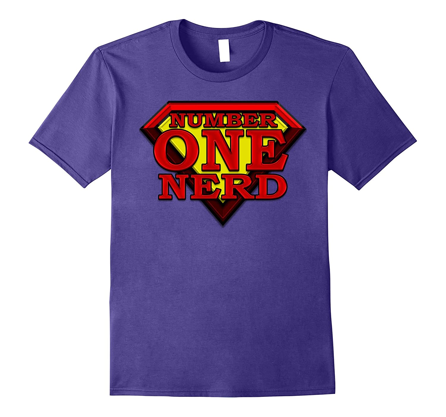 1 Super Hero Number One NERD Winning Best Top Tshirt-Vaci