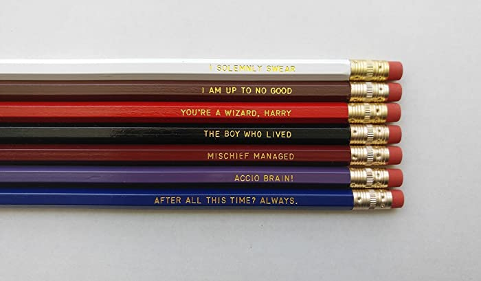 Harry Potter Gift Back To School Pencil Set Engraved Pencil Set Gold Foil  Pencil Set Engraved