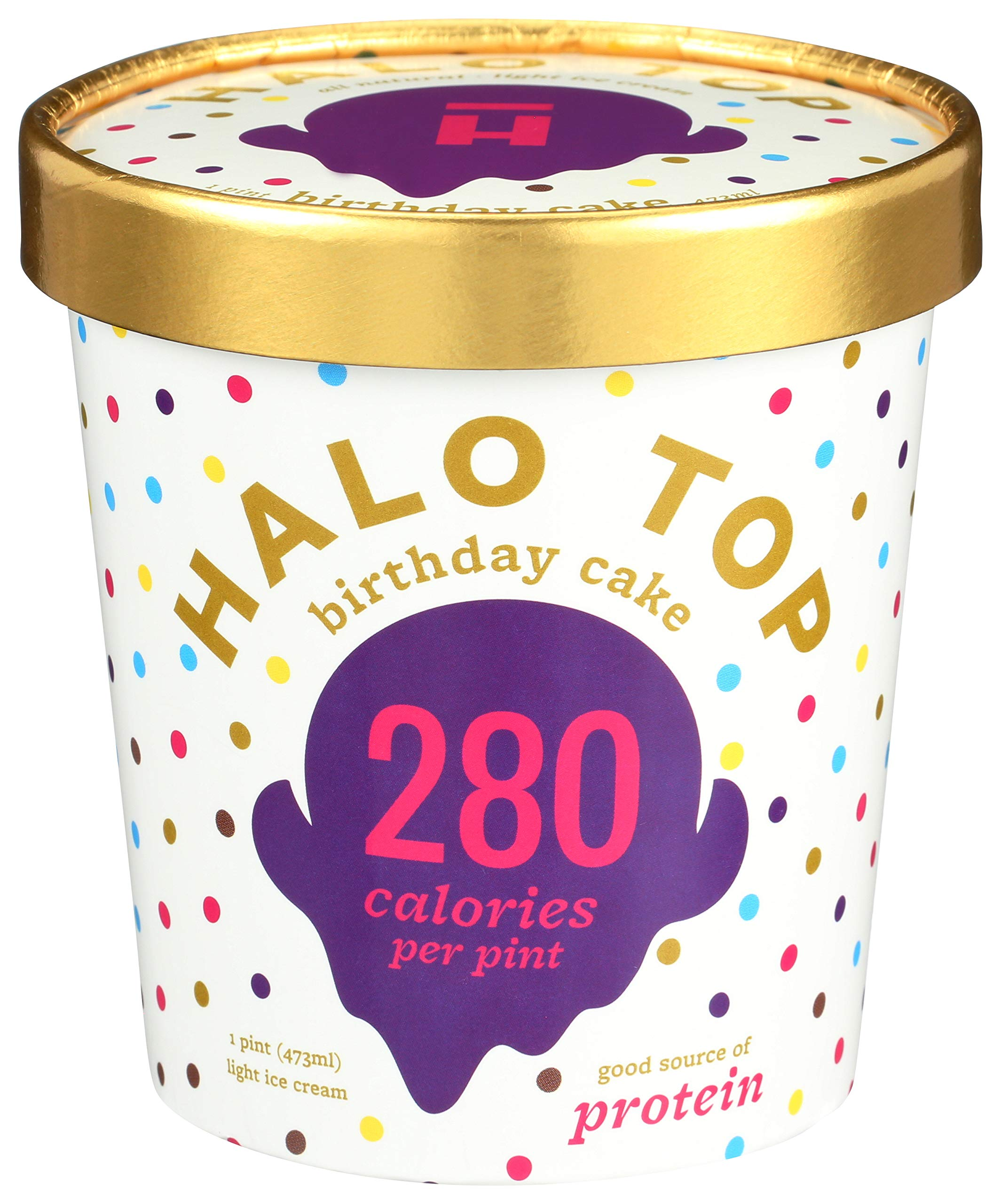 Terrific Halo Top Creamery Birthday Cake 16 Oz Frozen Buy Online In Funny Birthday Cards Online Alyptdamsfinfo