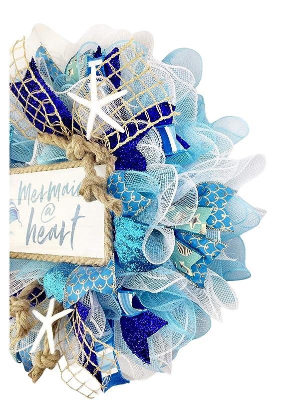 Hand made Nautical rope Mermaid Wreath.