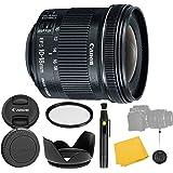 Canon EF-S 10-18mm f/4.5-5.6 is STM Lens + UV Filter + Flower Tulip Lens Hood + Lens Cleaning Pen + Lens Cap Keeper…