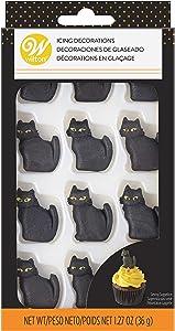 Food Items Black CAT Royal Icing Decor