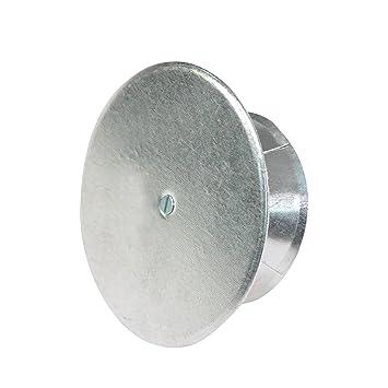 Kamino - Flam - Tapa para tubo de chimeneas, estufas y hornos de leña - acero con revestimiento de aluminio - Ø 160 mm - resistente a altas temperaturas: ...