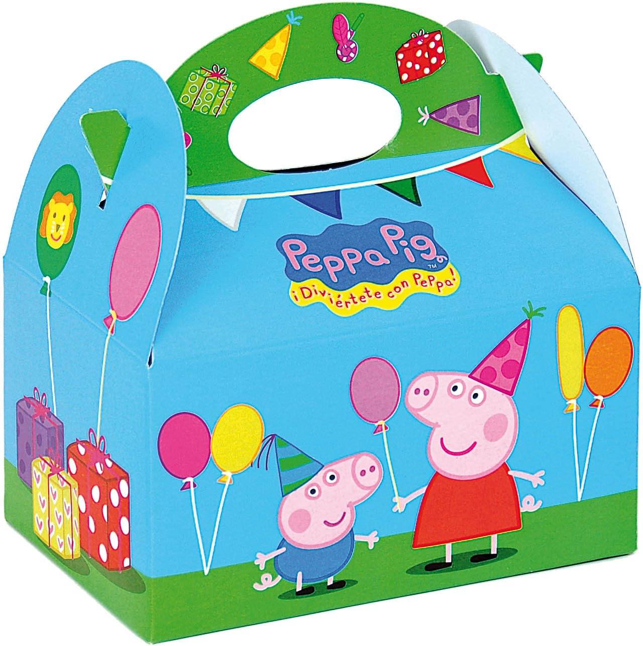 Peppa Pig 0653, Pack 4 cajitas de Carton para chuches, Fiestas y ...