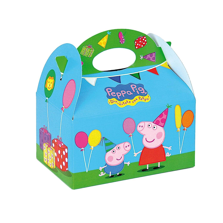 Peppa Pig 0653, Pack 4 cajitas de Carton para chuches, Fiestas y cumpleaños