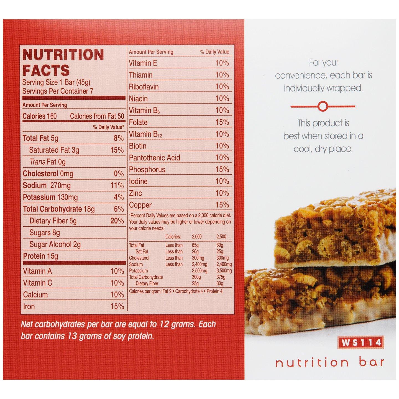 WonderSlim High Protein Meal Replacement Bar - High Fiber, Kosher, Crispy Cinnamon (7 Count) by WonderSlim (Image #2)