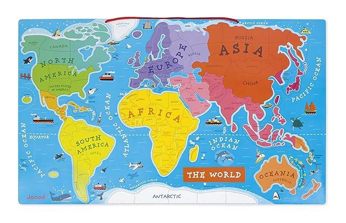 Amazon janod magnetic world puzzle english edition toys games gumiabroncs Images