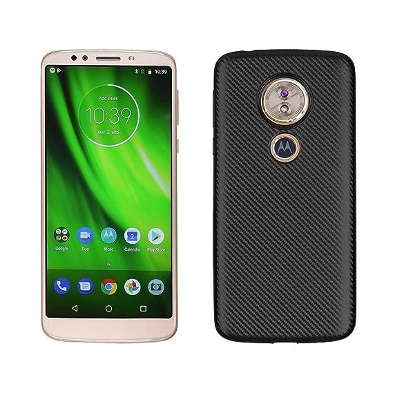 buy popular 6d214 952cd Case for Motorola Moto G6 Play XT1922-2 XT1922-9 / Moto G Play Gen 6 Case  TPU Silicone Soft Shell Cover Black