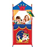 Deluxe Puppet Show Theater Sturdy Non-Top Base Fold-able and Easy to Store