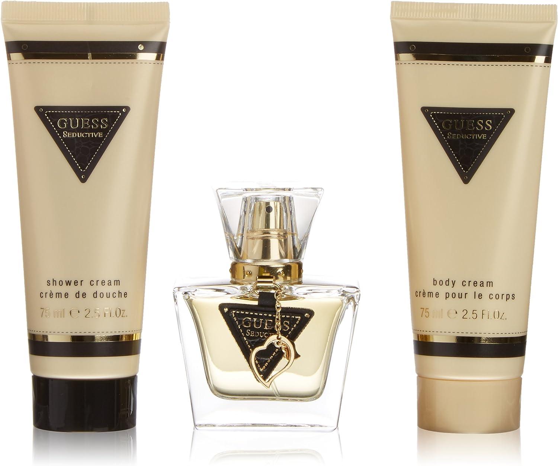 Guess Seductive Gift Set Eau De Toilette Spray 30 ml en 75 ml Body Cream además Ducha Crema 75 ml 1 paquete (1 x 0018 l): Amazon.es: Belleza