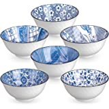 DeeCoo 6 Pack 24-Ounce Japanese Style Ceramic Cereal Bowls for Cereal, Salad, Soup, Pho, Ramen, Dessert, Rice, Noodle…