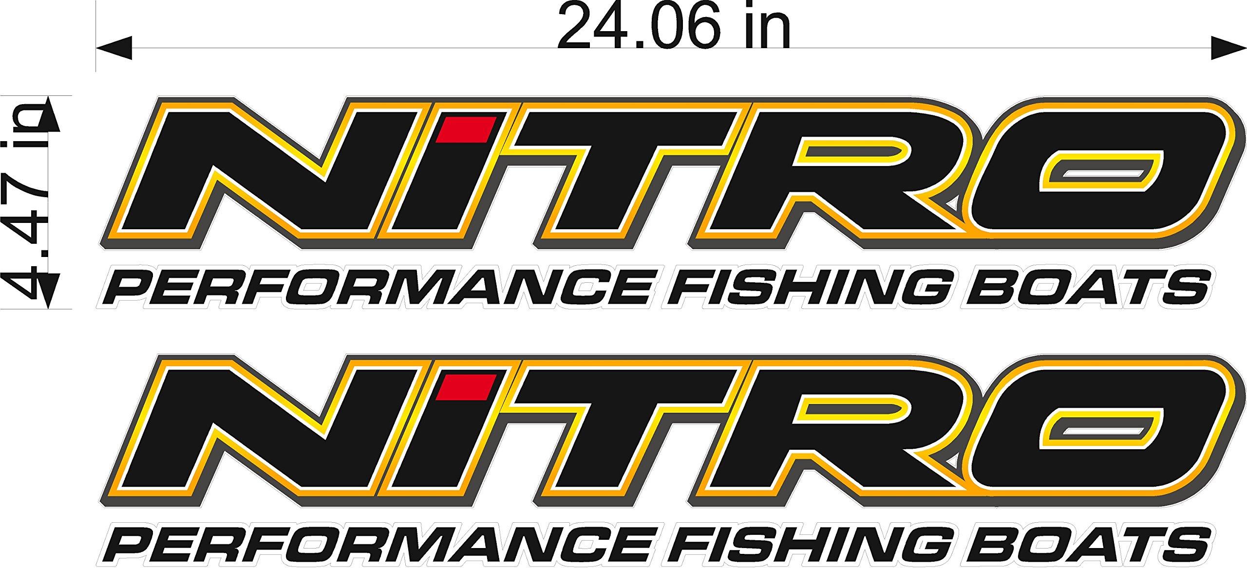 NITRO Boats Logo Decal PAIR 5x24''