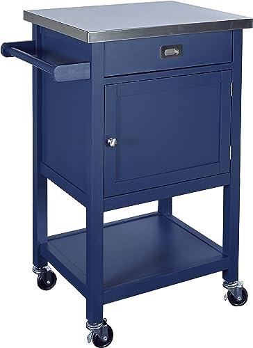 Linon Sydney Wood Kitchen Apartment Cart