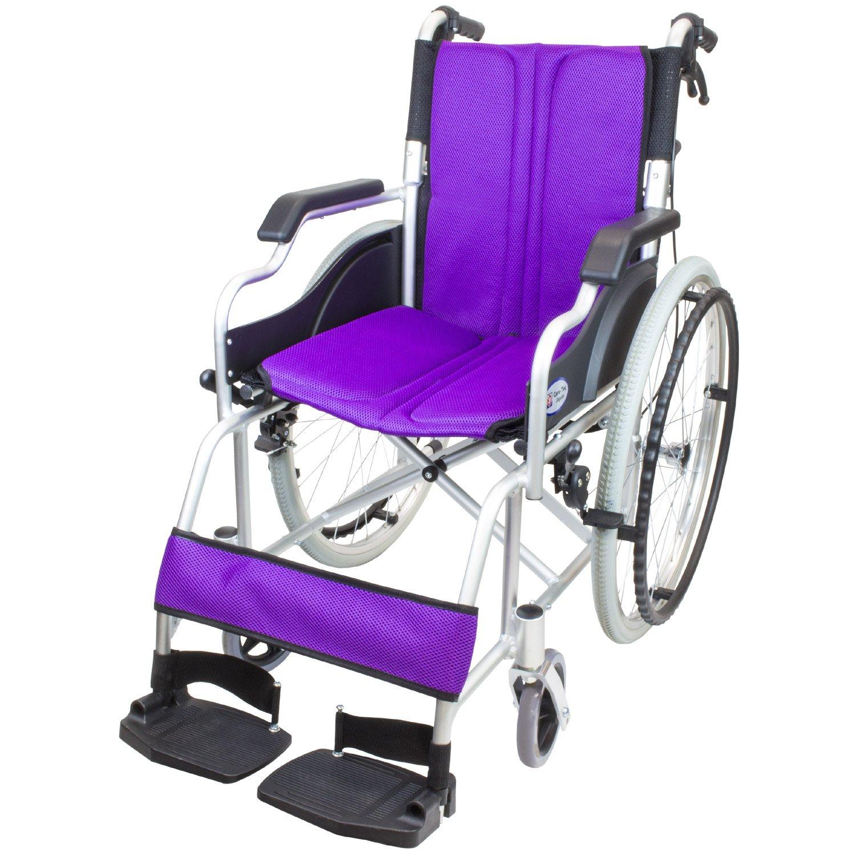 ケアテックジャパン 自走式車椅子 ハピネスコンパクト CA-10SUC (パープル) B079SW76VR パープル パープル