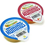 Veggicopia Dips, Combo Pack in 2.5oz Single Serving Cups (Pack of 12), No Refrigeration Required, Includes Original Hummus, Roasted Red Pepper Hummus