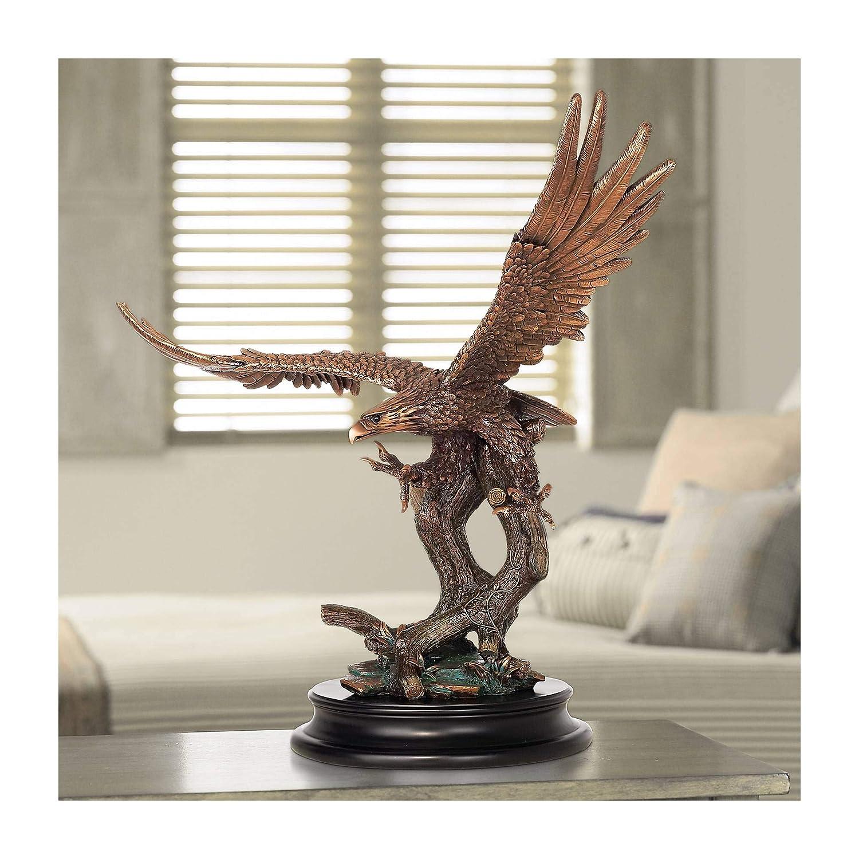 "Kensington Hill Eagle Taking Flight 24 1/2"" High Large Bronze Sculpture"