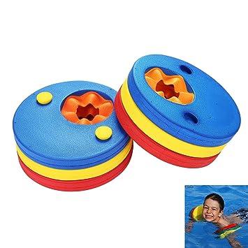 Discos de Flotador de Brazo para Niños, Aolvo (MT) Brazo de Natación de Espuma Brazaletes de Natación para Piscina (6 Piezas / Juego): Amazon.es: Deportes y ...