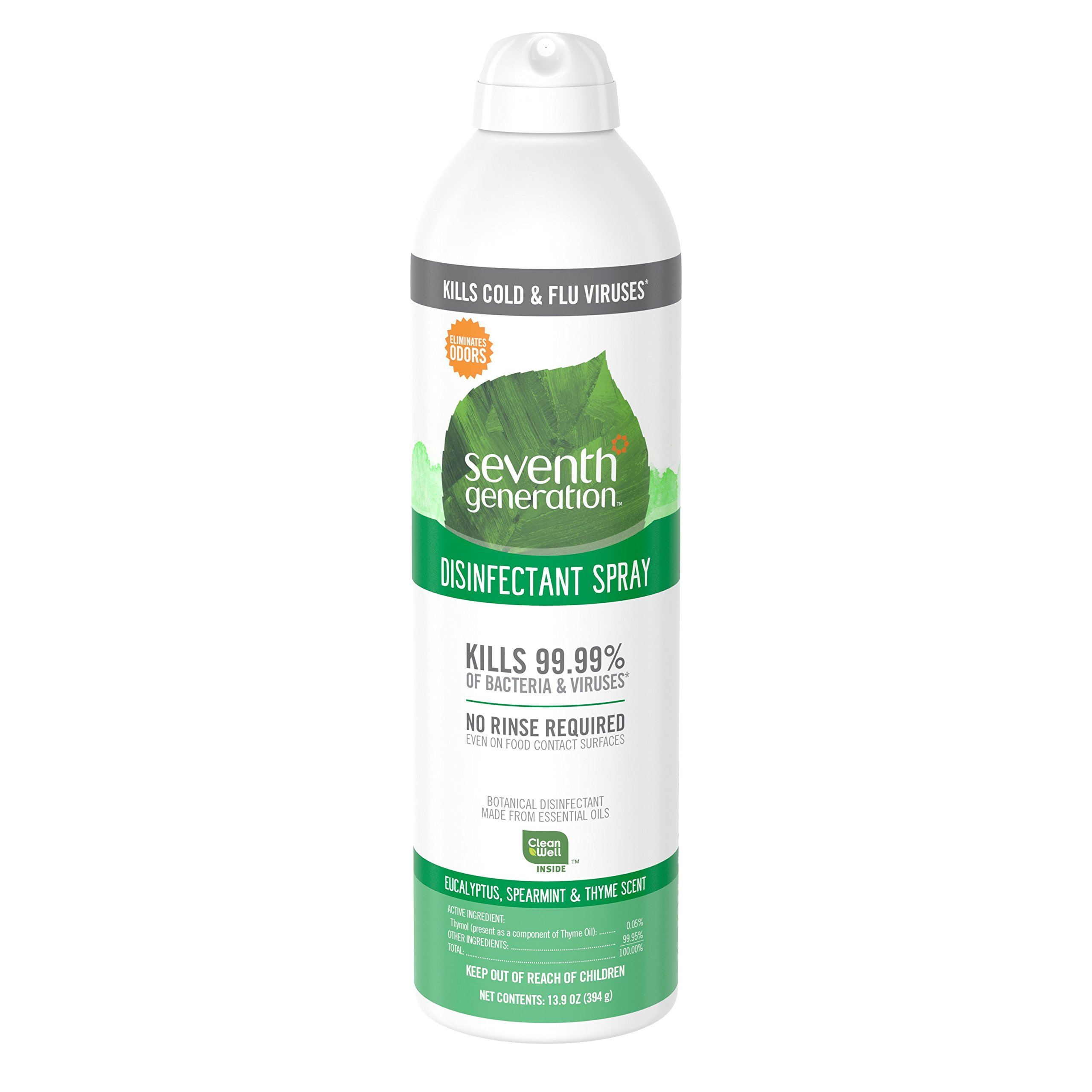 Seventh Generation Disinfectant Spray, Eucalyptus Spearmint & Thyme Scent, 13.9 Ounce (Pack of 8)