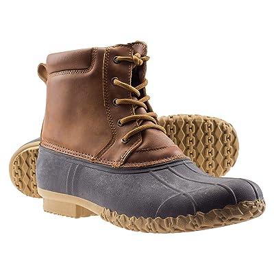 ArcticShield Mens Waterproof Insulated Durable Outdoor Work Rain Winter Snow Duck Bean Boots | Snow Boots