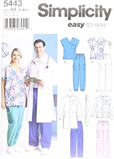 product image for Simplicity Easy To Sew Men and Women's Scrubs and Doctor's Outfit Costume Sewing Pattern, Sizes S-L