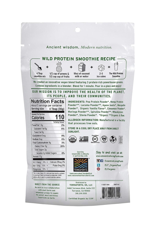 Essential Living Foods Mezcla de batidos de proteínas ...